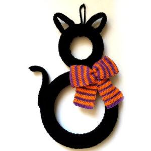 Superstitious Black Cat Wreath