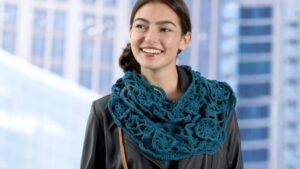 Crochet Blue Velvet Cowl