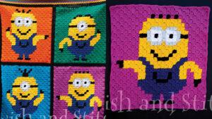 Crochet Disco Minions Blanket