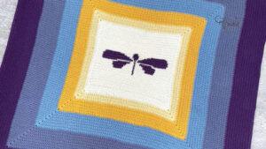 Crochet Dragon Fly Blanket