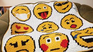 Crochet Emoji Blanket C2C Pattern