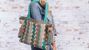 Crochet Flame Stitch Bag