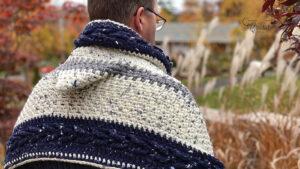 Crochet Hooded Pocket Wrap