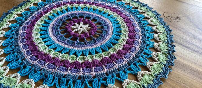 Crochet Mandala Doily Banner