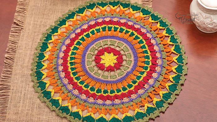 Crochet Mandala Doily Original
