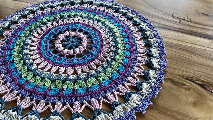 Crochet Mandala Tutorial Version