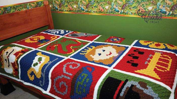 Crochet Nutcracker Suite C2C Blanket