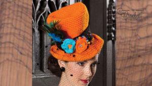 Crochet Orange Top Hat