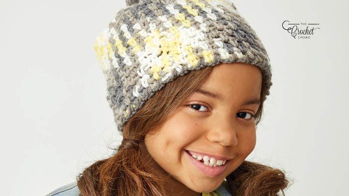 Crochet Planned Pooling Argyle Hat