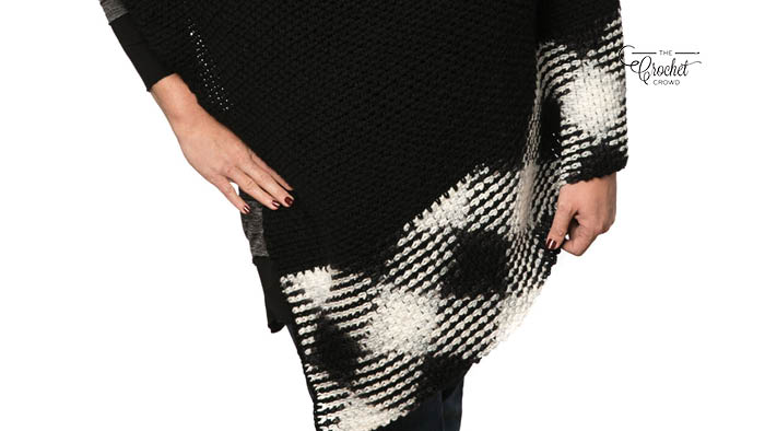 Crochet Planned Pooling Argyle Poncho