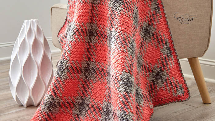 Crochet Planned Pooling Argyle Throw