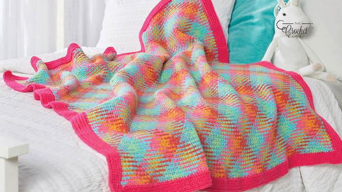 Crochet Planned Pooling Happy Blanket