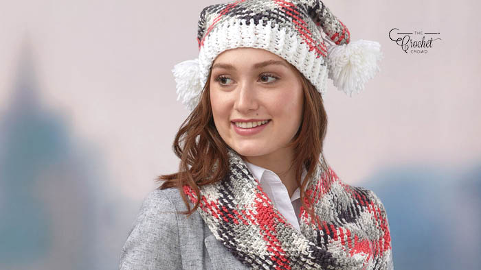 Crochet Planned Pooling Hat and Cowl Set