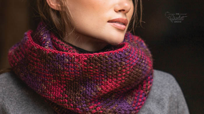 Crochet Planned Pooling Infinity Scarf