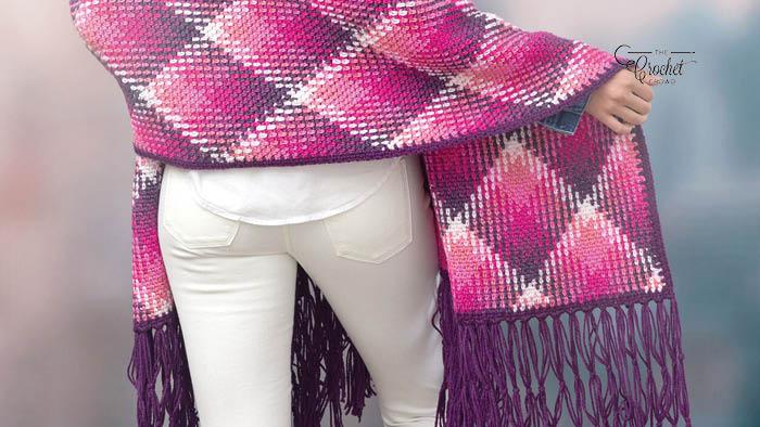 Crochet Planned Pooling Wrap