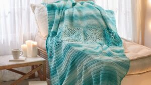 Crochet Pretty Squares In A Row Throw