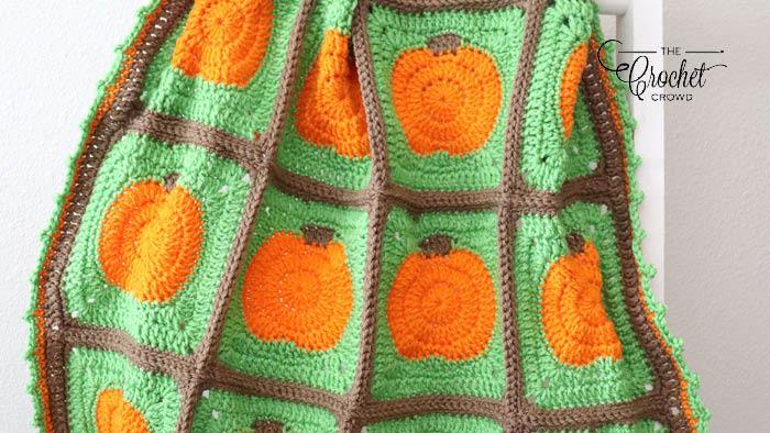 Crochet Pumpkin Blanket