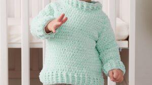 Crochet Velvet Sweater