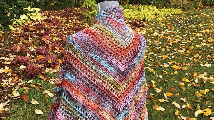 Crochet Wrapture Shawl with Melange