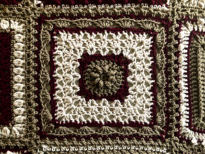 7 Day Sampler Afghan Monday Square by Jeanne Steinhilber