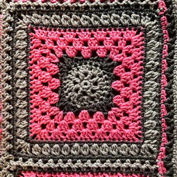 7 Day Sampler Afghan Sunday Square by Jeanne Steinhilber