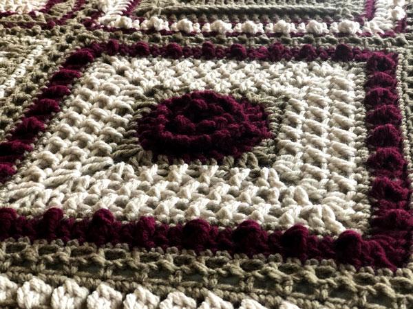 7 Day Sampler Afghan Thursday Square by Jeanne Steinhilber