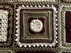 7 Day Sampler Afghan Tuesday Square by Jeanne Steinhilber