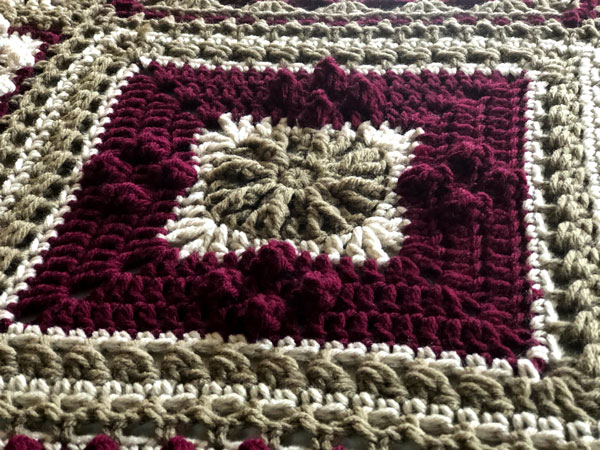 7 Day Sampler Afghan Wednesday Square by Jeanne Steinhilber