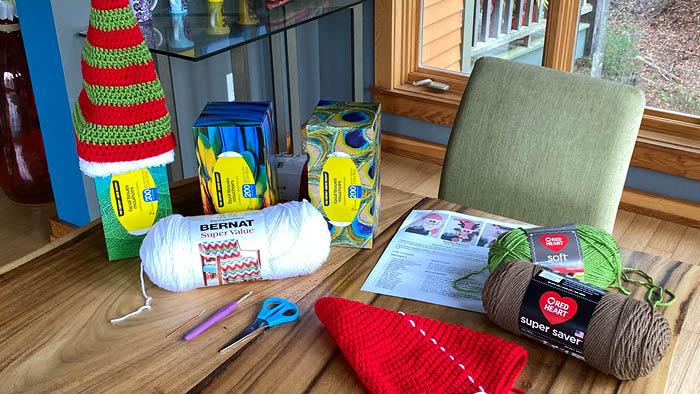 Crochet Christmas Puzzle Supplies