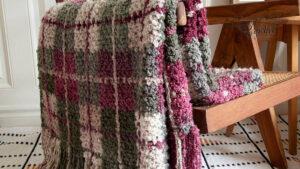 Crochet Mad for Plaid Blanket