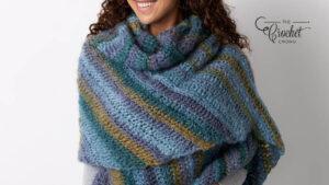 Crochet Shifting Colors Shawl