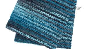 Crochet Wide V-Stitch Blanket