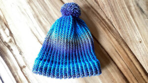 Loom Knit Double Wrapped Hat