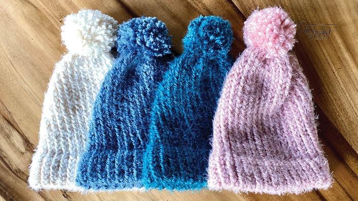 Loom Knit So Soft Baby Hats