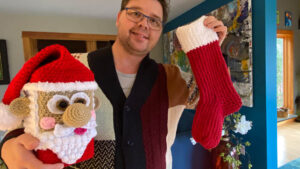 Loom Knit Stocking