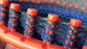 Loom Knitting Double Wrapping