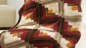 Crochet Comfort Log Cabin Throw