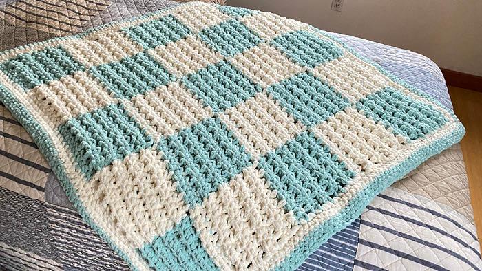 Crochet Hissy Stitch Baby Blanket