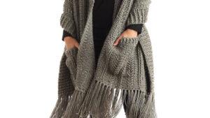 Crochet Message Pocket Shawl