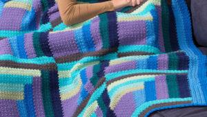 Crochet Mod Log Cabin Throw
