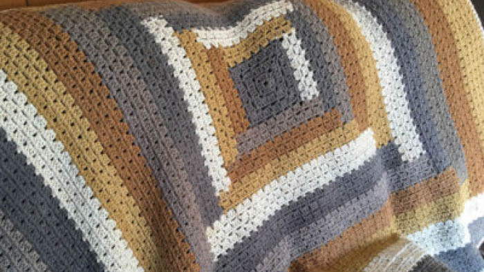 Crochet Modern Granny Log Cabin Quilt