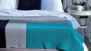 Crochet Modern Log Cabin Bed Cover
