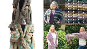 Crochet Pocket Shawls