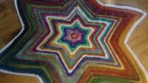 Crochet Star Christmas Tree Skirt
