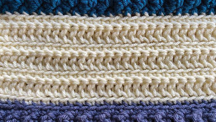 Crochet Stitch is Right Loop Track Stitch
