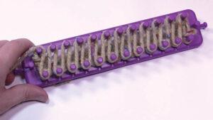 Loom Knit Duplicate Zig Zag Stitch
