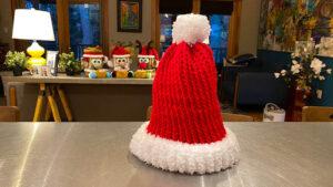 Loom Knit Santa Beanie Hat