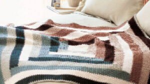 Quilt Inspired Log Cabin Throw