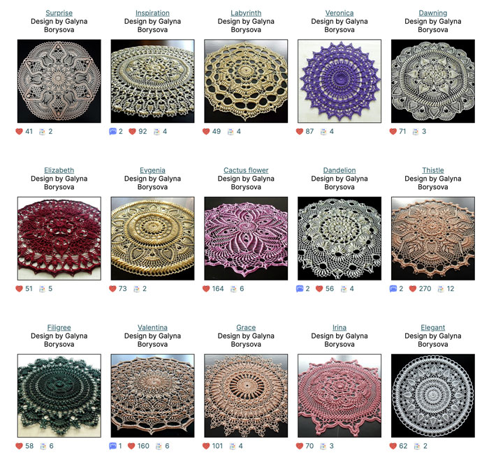 48 Incredible Pineapple Doily Patterns