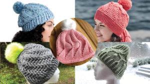 5 Crochet Textured Hats